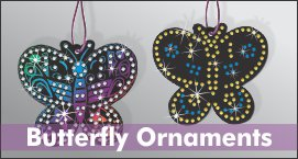 Rhinestone Butterfly Ornaments